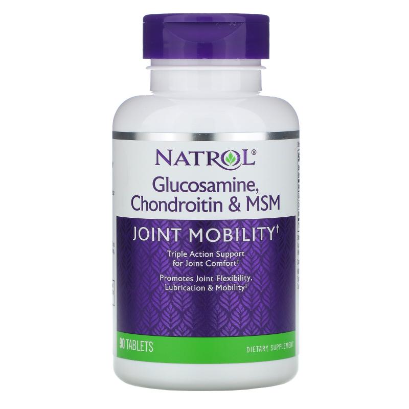 Natrol, Glucosamine, Chondroitin & MSM, 90 Tablets