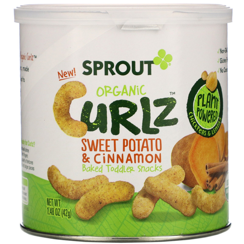 Sprout Organic, Curlz, Sweet Potato & Cinnamon, 1.48 oz (42 g)