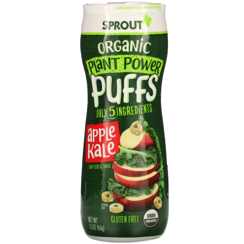Sprout Organic, Quinoa Puffs, Apple Kale, 1.5 oz (43 g)