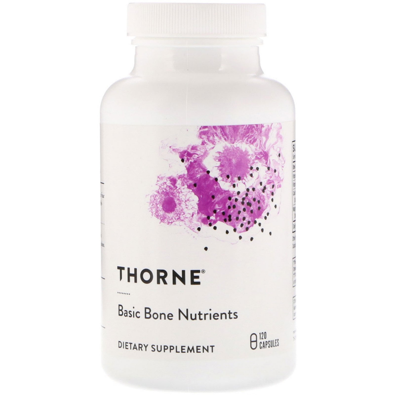 Thorne Research, Basic Bone Nutrients, 120 Capsules