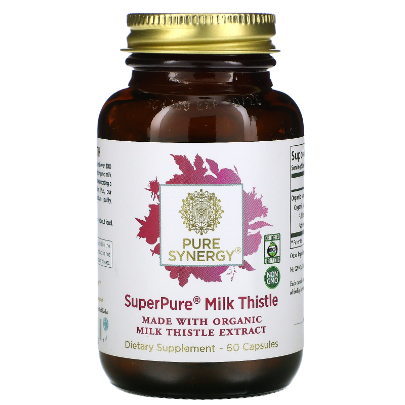 The Synergy Company, Pure Synergy, Super Pure Milk Thistle Organic Extract, 60 Organic Vegetarian Caps