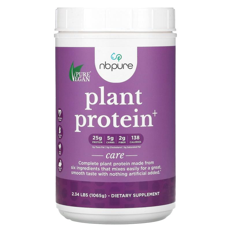 Pure Vegan, Pea Protein, Vanilla, 2.34 lbs (1065 g)
