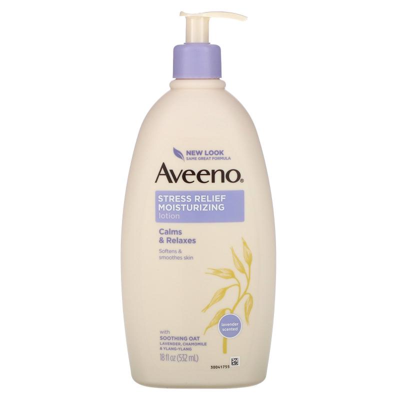 Aveeno, Stress Relief Moisturizing Lotion, 18 fl oz (532 ml)