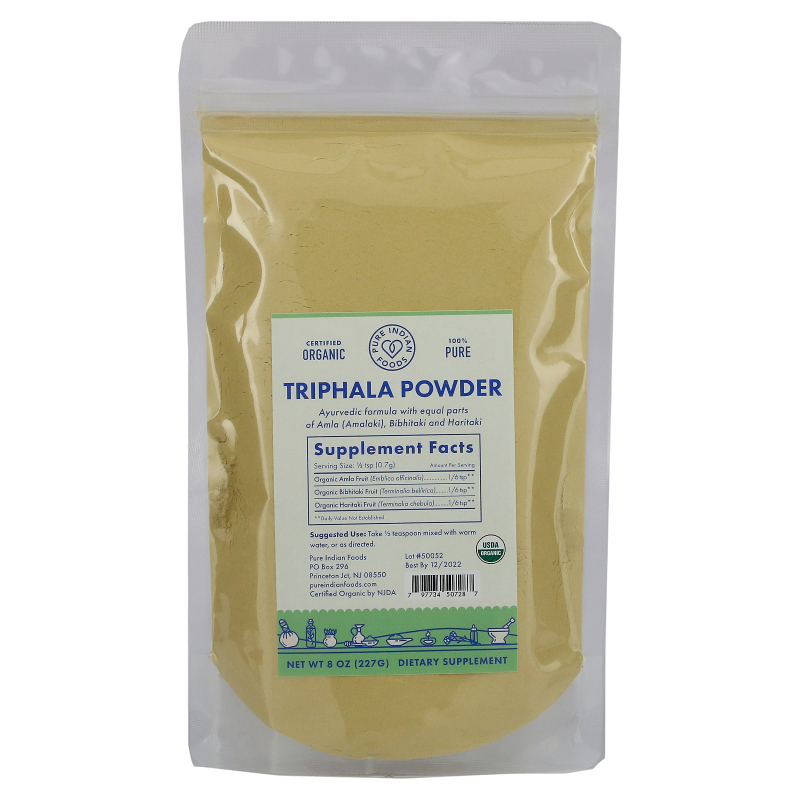 Pure Indian Foods, Organic Triphala Powder, 8 oz (227 g)