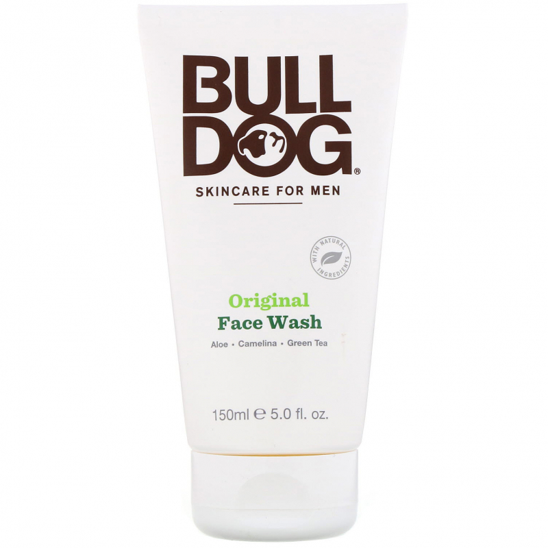 Bulldog Skincare For Men, Original Face Wash, 5 fl oz (150 ml)