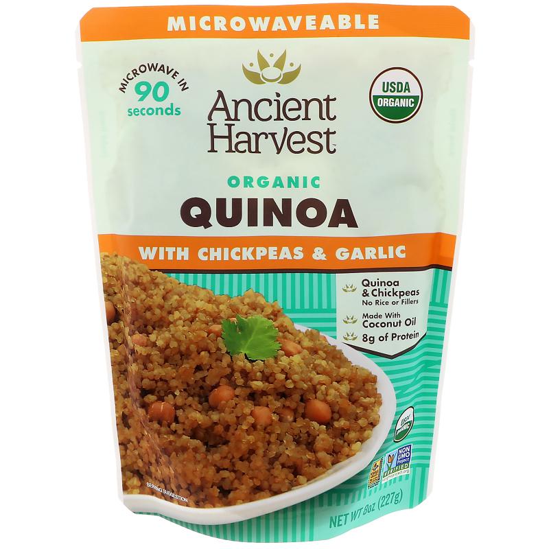 Ancient Harvest, Organic, Quinoa with Chickpeas & Garlic, 8 oz (227 g)