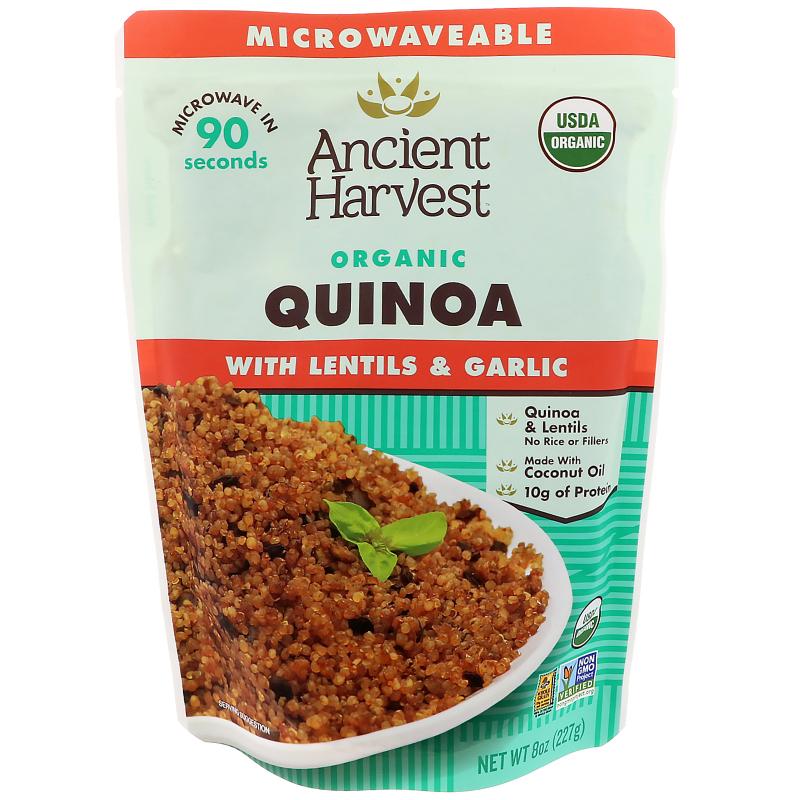 Ancient Harvest, Organic, Quinoa with Lentils & Garlic, 8 oz (227 g)