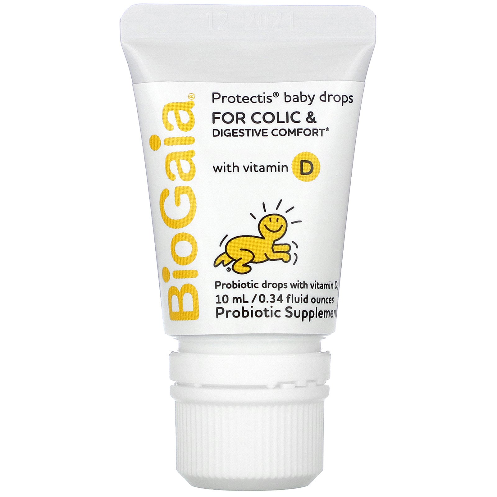 BioGaia, ProTectis, Baby, With Vitamin D, Digestive Health, Probiotic Supplement, 0.34 fl oz (10 ml)