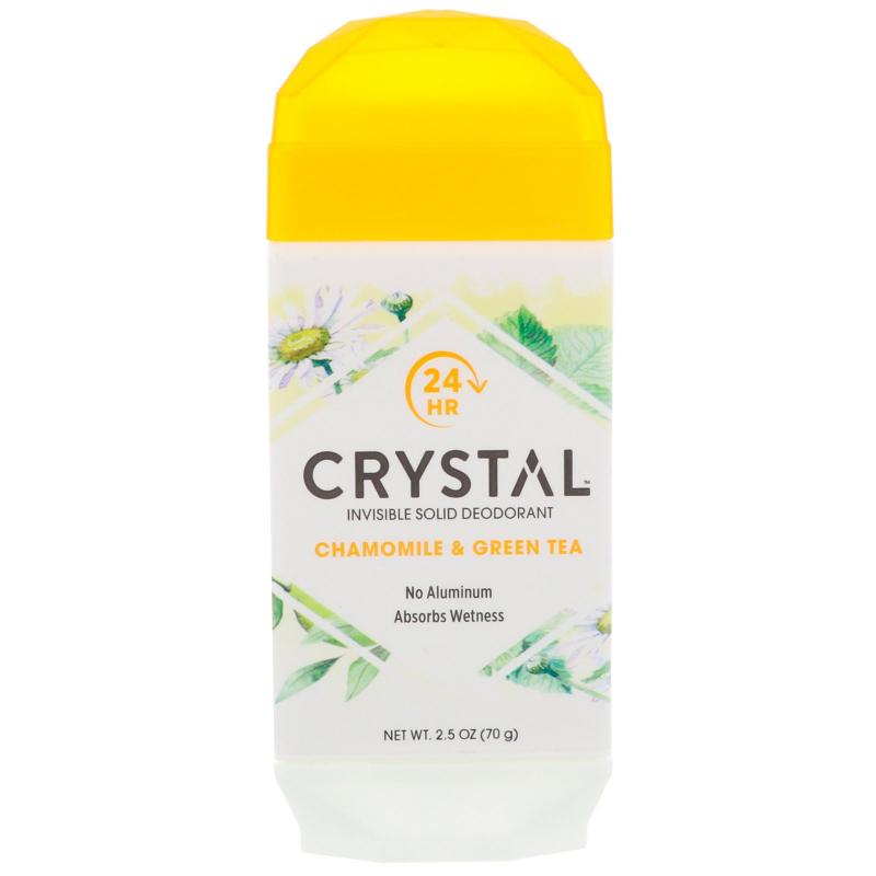 Crystal Body Deodorant, Invisible Solid Deodorant, Chamomile & Green Tea, 2.5 oz (70 g)