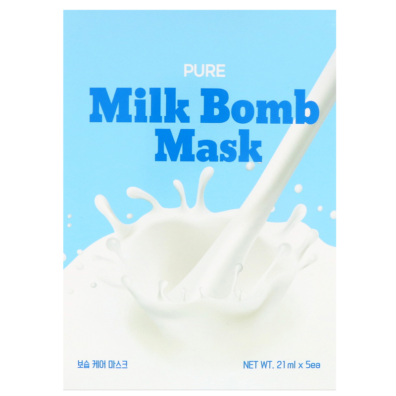 G9skin, Pure Milk Bomb Mask, 5 Masks, 21 ml Each