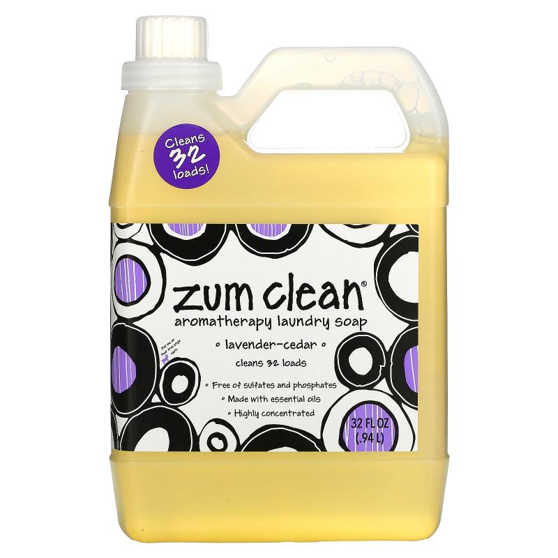 Indigo Wild, Zum Clean, Aromatherapy Laundry Soap, Cedar-Lavender, 32 fl oz (.94 L)