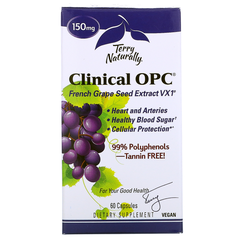 EuroPharma, Terry Naturally, Clinical OPC, 150 mg , 60 Capsules