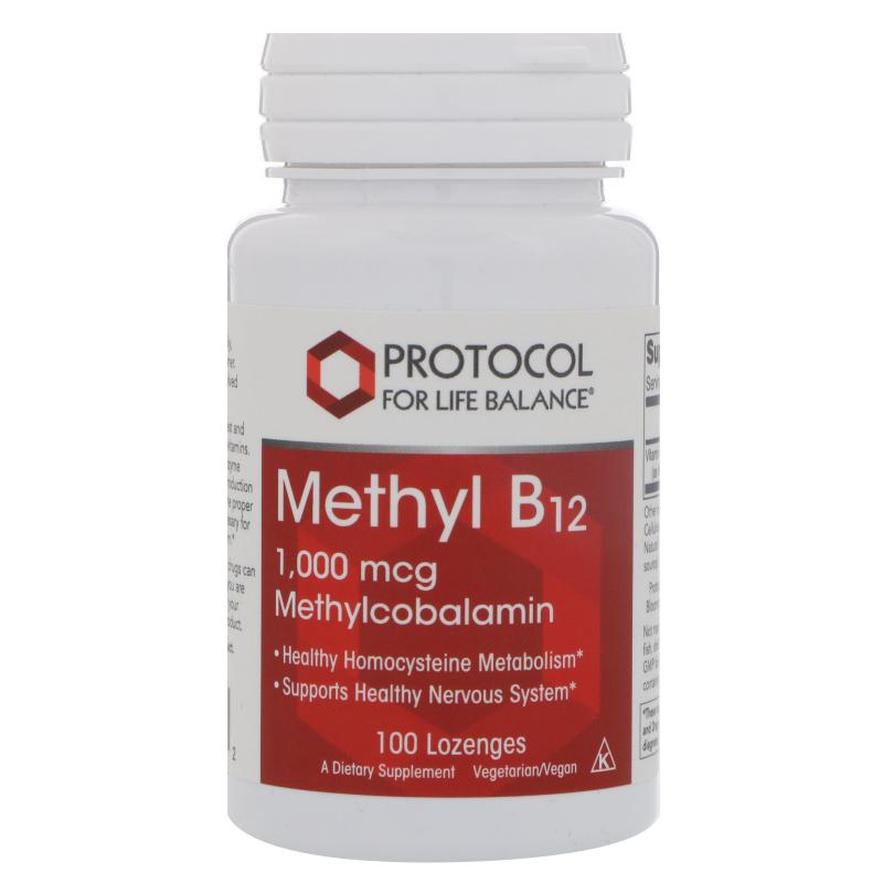 Protocol for Life Balance, Methyl B12, 1000 mcg, 100 Lozenges