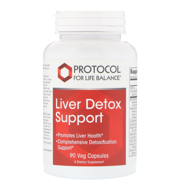 Protocol for Life Balance, Liver Detox Support, 90 Veg Capsules
