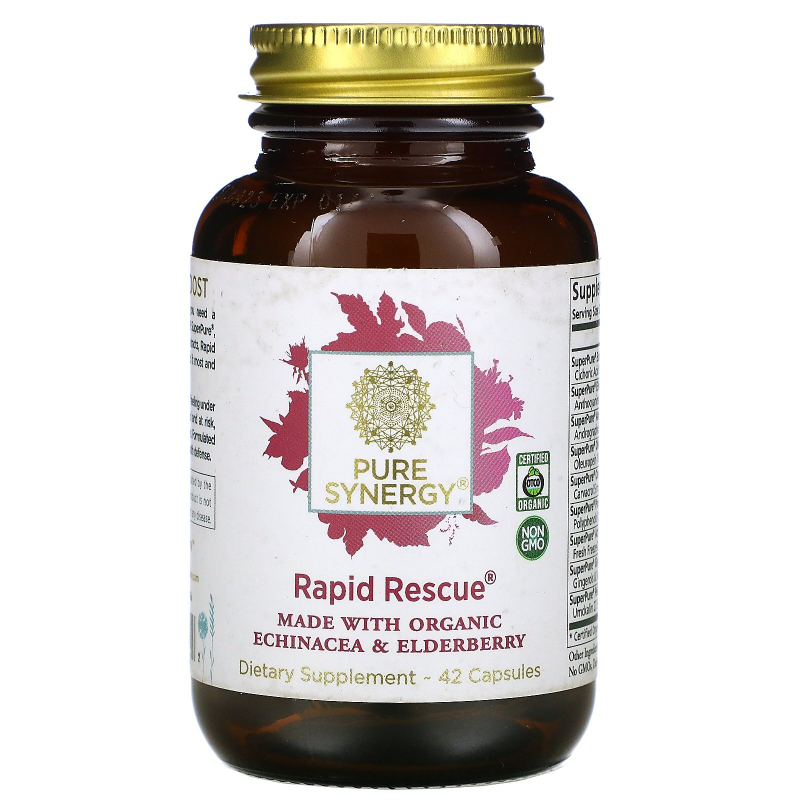 The Synergy Company, Rapid Rescue, 42 Organic Capsules