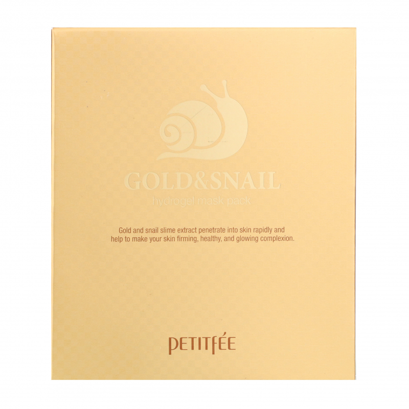 Petitfee, Gold & Snail Hydrogel Mask Pack, 5 Masks, 30 g Each