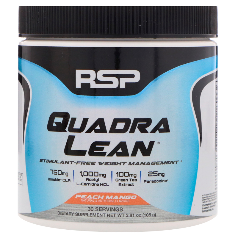 RSP Nutrition, Quadra Lean, Stimulant-Free Weight Management, Peach Mango, 3.81 oz (108 g)