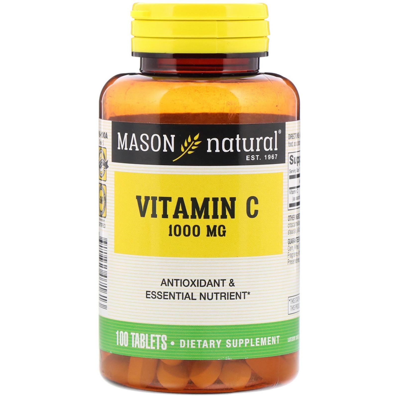 Mason Natural, Vitamin C, 1000 mg, 100 Tablets