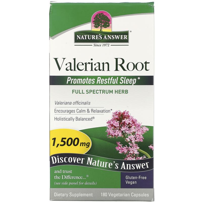 Nature's Answer, Valerian Root, Full Spectrum Herb, 1500 mg, 180 Vegetarian Capsules
