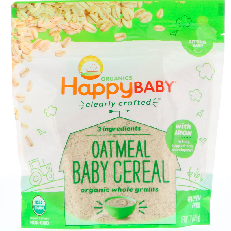 Happy Family Organics, Organic, Clearly Crafted, Oatmeal Baby Cereal, 7 oz (198 g)