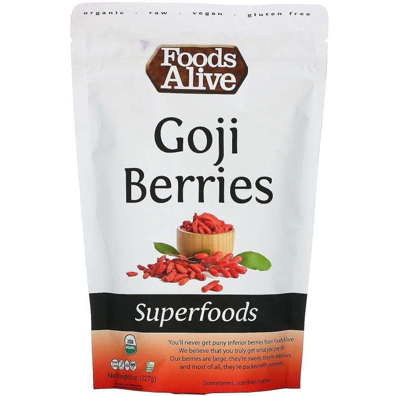 Foods Alive, Superfoods, Goji Berries, 8 oz (227 g)
