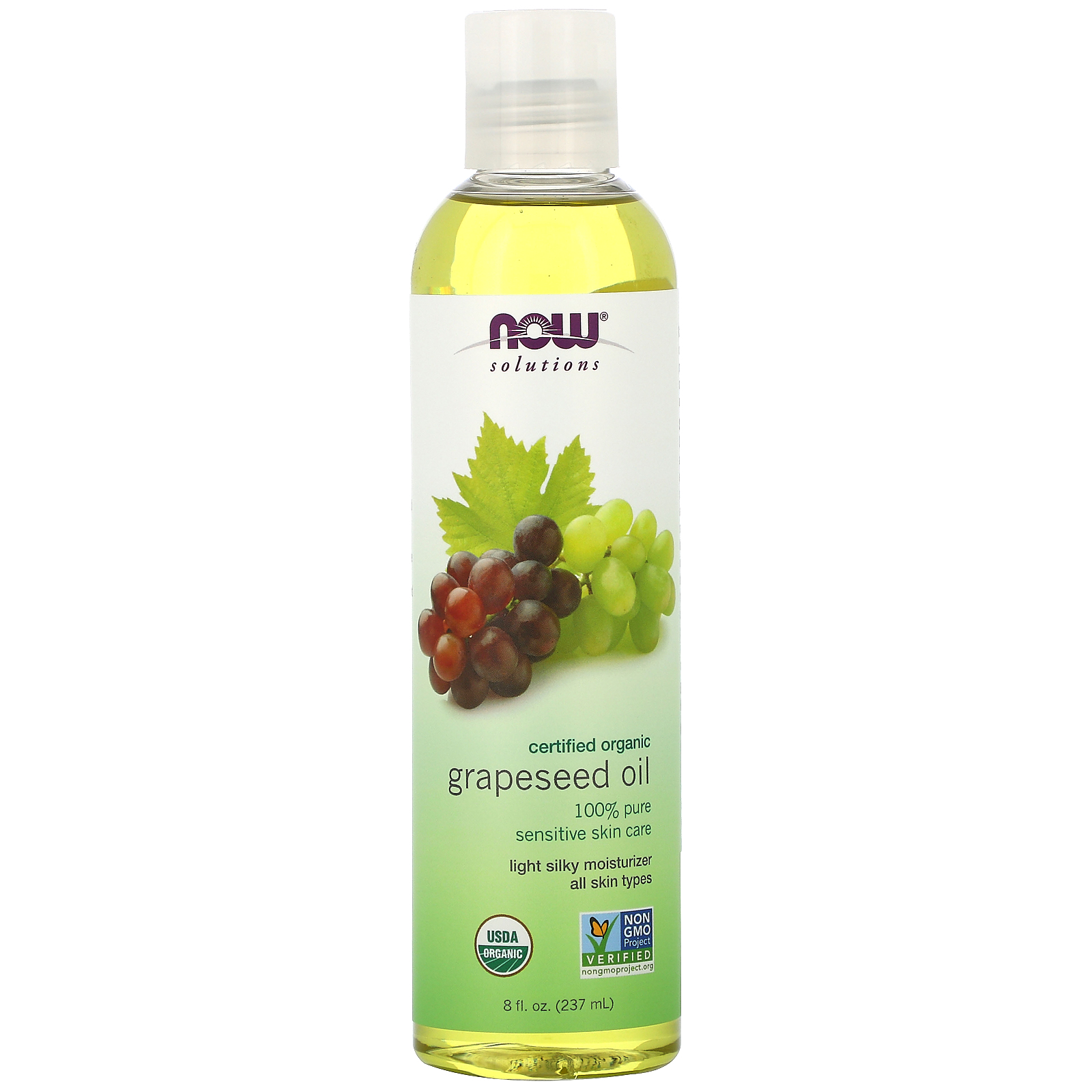 Now Foods, Solutions, Organic Grapeseed Oil, 8 fl oz (237 ml)