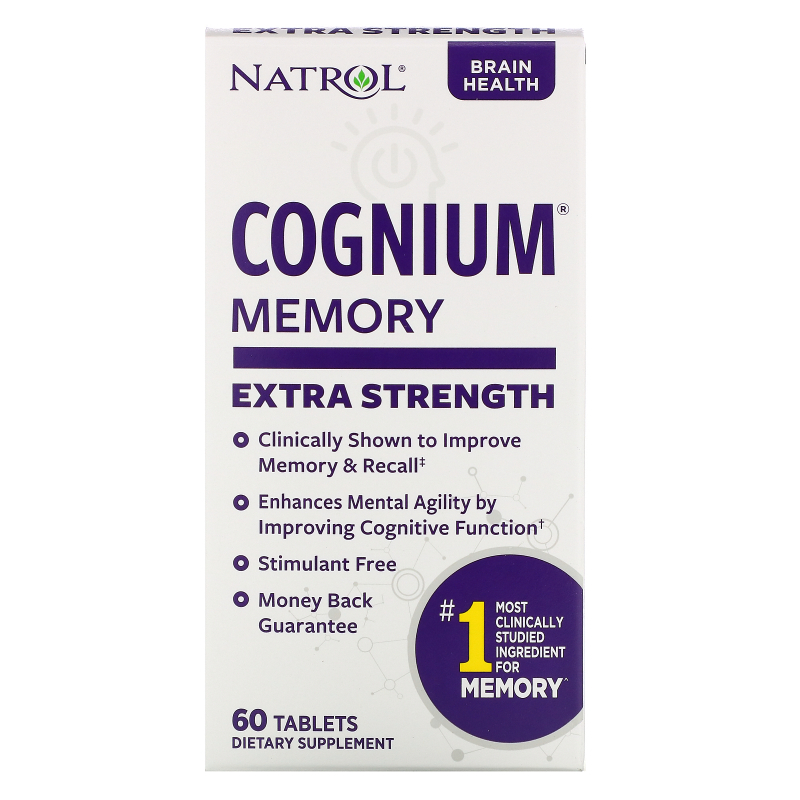 Natrol, Cognium, Extra Strength, 200 mg, 60 Tablets