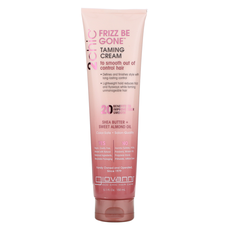 Giovanni, 2chic, Frizz Be Gone Taming Cream, Shea Butter & Sweet Almond Oil, 5.1 fl oz (150 ml)