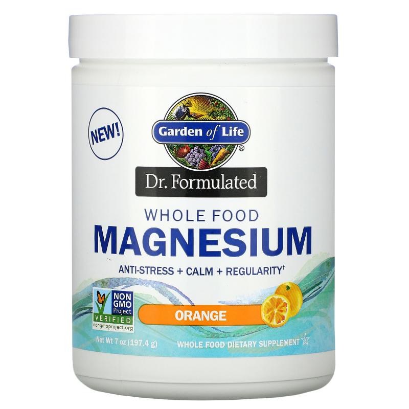 Garden of Life, Dr. Formulated, Whole Food Magnesium Powder, Orange, 7 oz (197.4 g)