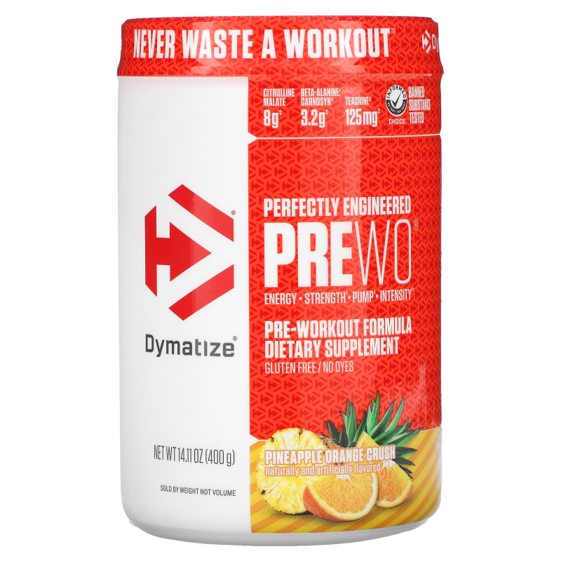 Dymatize Nutrition, Pre-W.O., Pineapple Orange Crush, 14.11 oz (400 g)