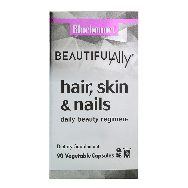 Bluebonnet Nutrition, Beautiful Ally, Hair, Skin & Nails, 90 Vegetable Capsules