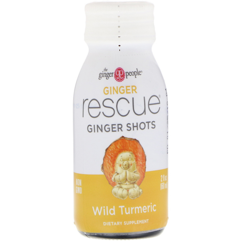 The Ginger People, Ginger Rescue Shots, Wild Turmeric, 2 fl oz (60 ml)