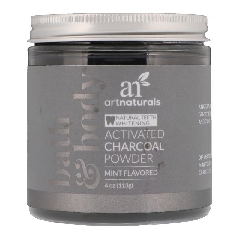 Artnaturals, Activated Charcoal Powder, Mint Flavored, 4 oz (113 g)