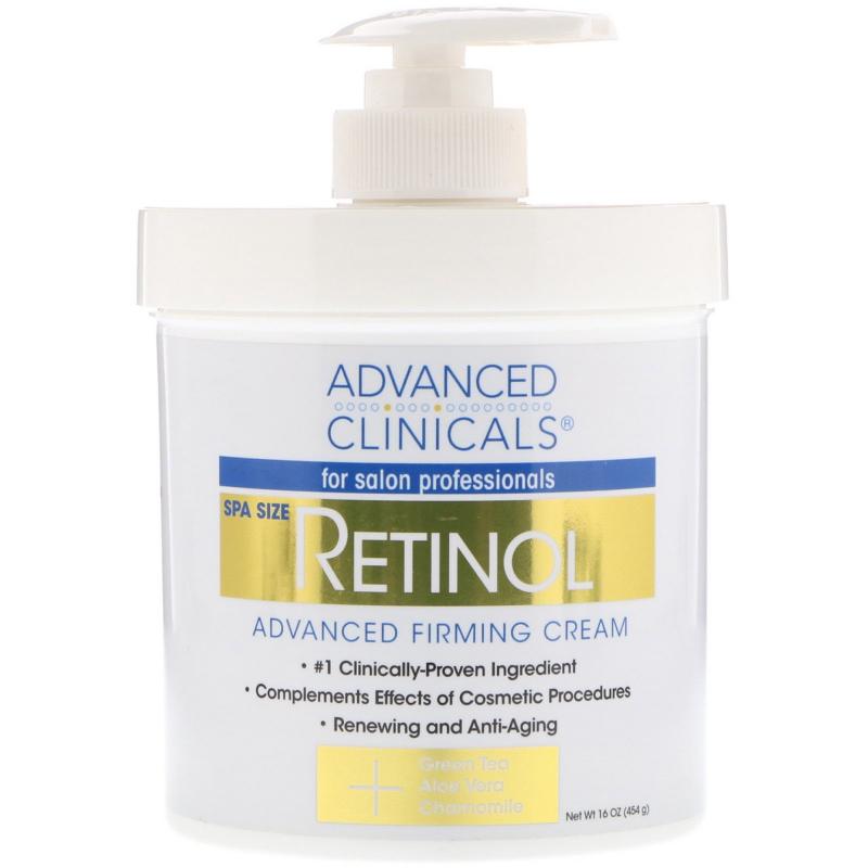 Advanced Clinicals, Retinol, Advanced Firming Cream, 16 oz (454 g)