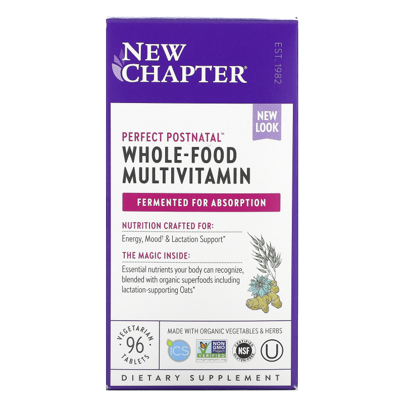 New Chapter, Perfect Postnatal Multivitamin, 96 Vegetarian Tablets