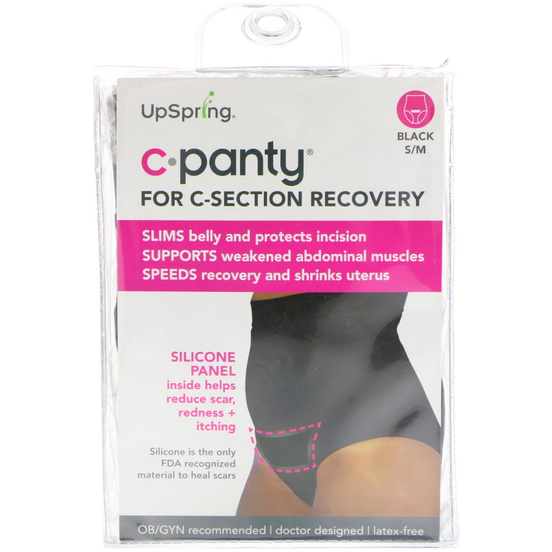 UpSpring, C-Panty, For C-Section Recovery, Size S/M, Black