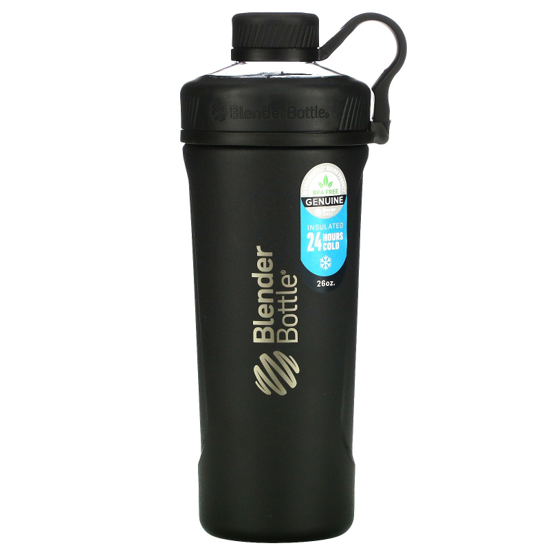 Blender Bottle, Blender Bottle Radian, Insulated Stainless Steel, Matte Black , 26 oz