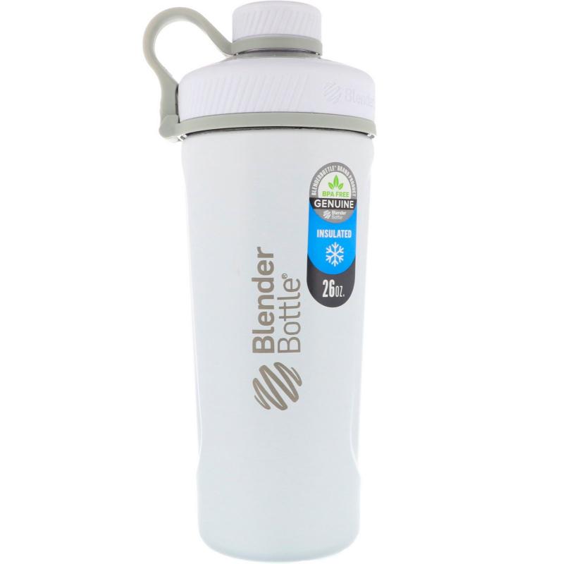Blender Bottle, Blender Bottle Radian, Insulated Stainless Steel, Matte White , 26 oz