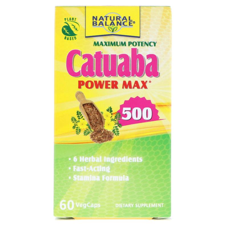 Natural Balance, Catuaba Power Max 500, Maximum Potency, 60 VegCaps