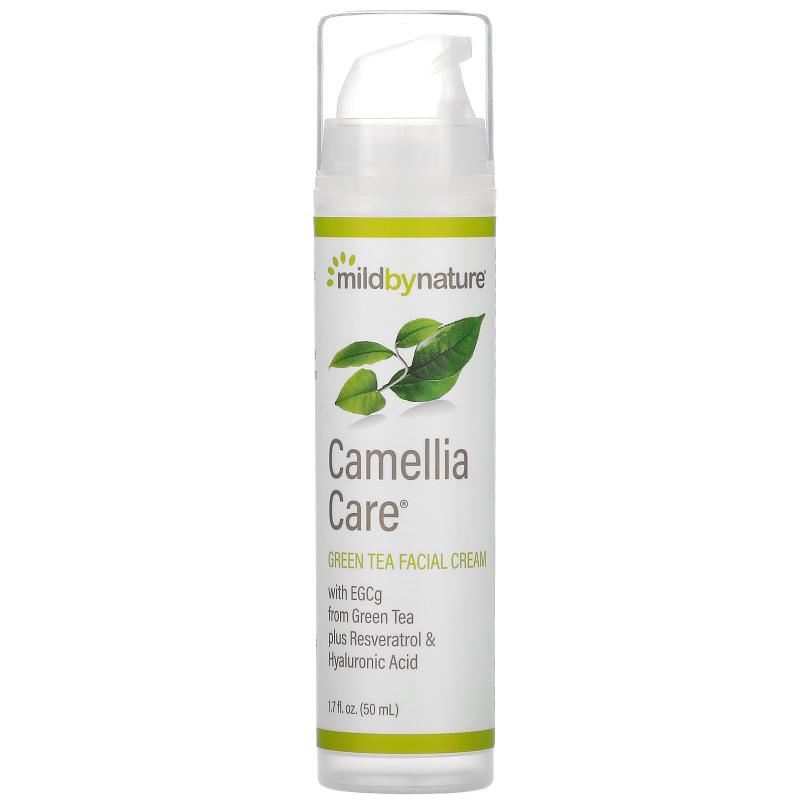 Mild By Nature, Camellia Care, Green Tea Facial Cream, 1.7 fl oz (50 ml)