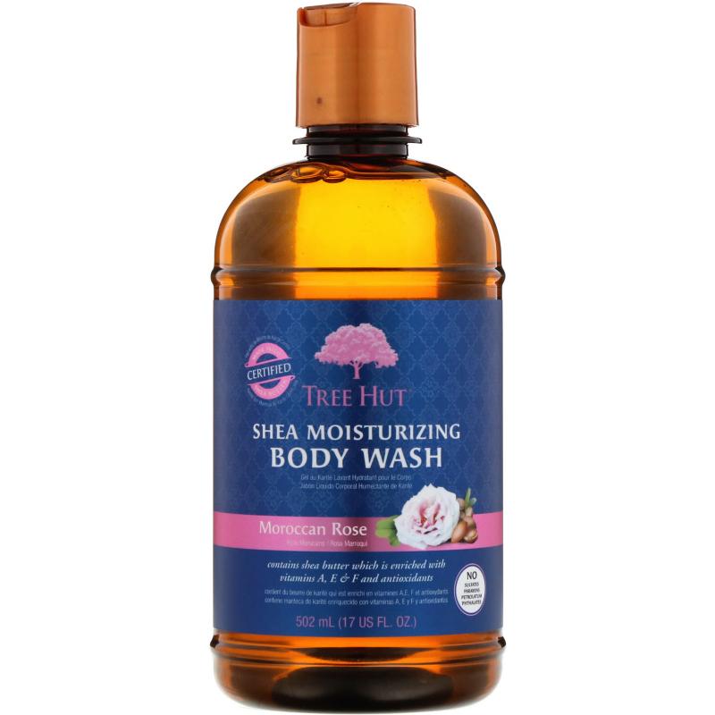 Tree Hut, Shea Moisturizing Body Wash, Moroccan Rose, 17 fl oz (502 g)