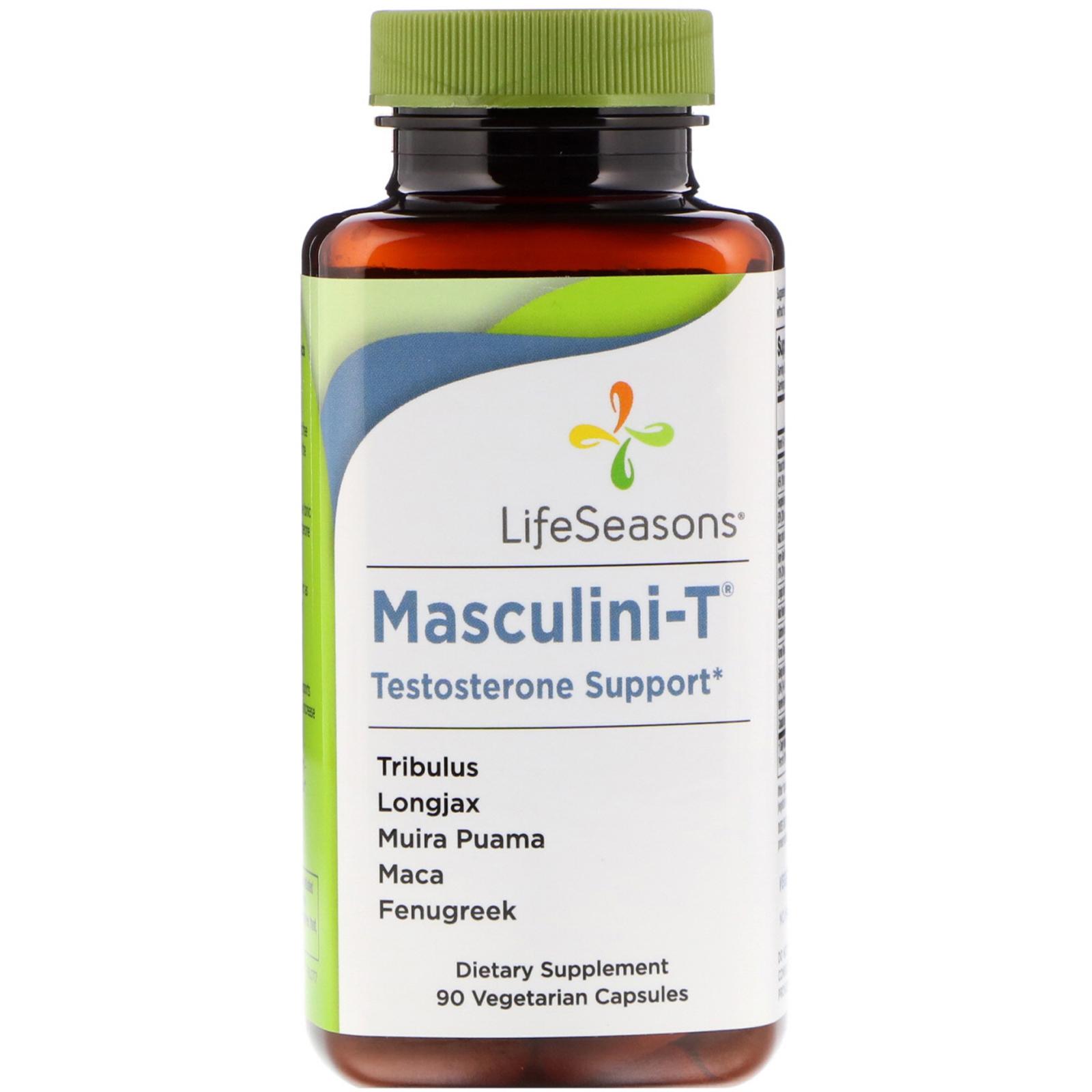 LifeSeasons, Masculini-T, Testosterone Support, 90 Vegetarian Capsules