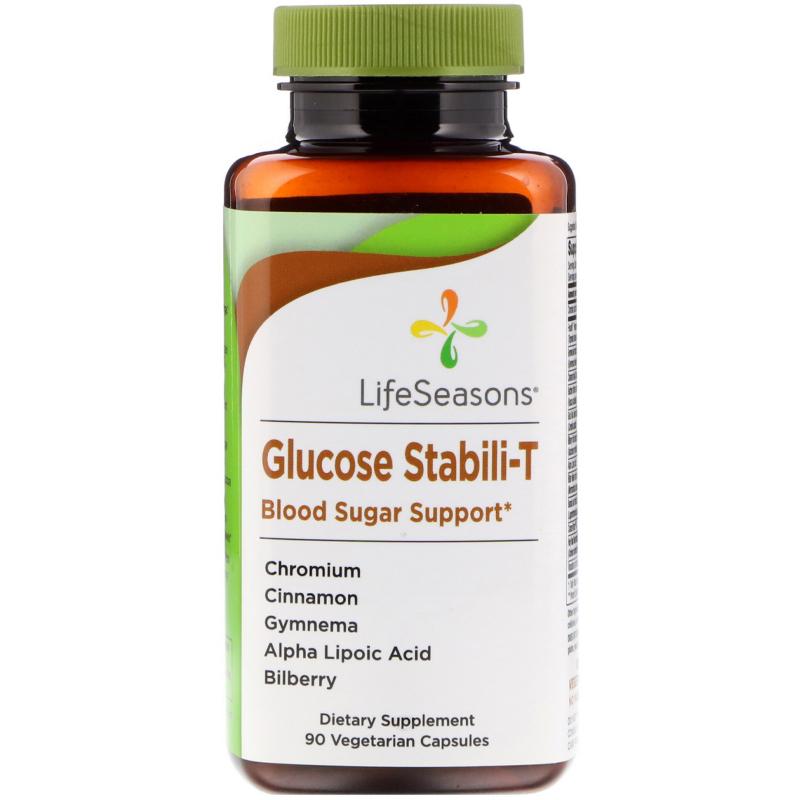 LifeSeasons, Glucose Stabili-T Blood Sugar Support, 90 Vegetarian Capsules