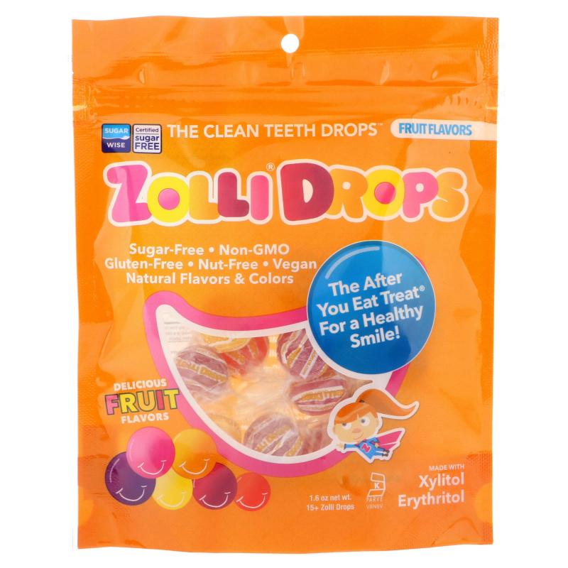 Zollipops , Zolli Drops, The Clean Teeth Drops, Fruit Flavors, 15+ Zolli Drops, 1.6 oz