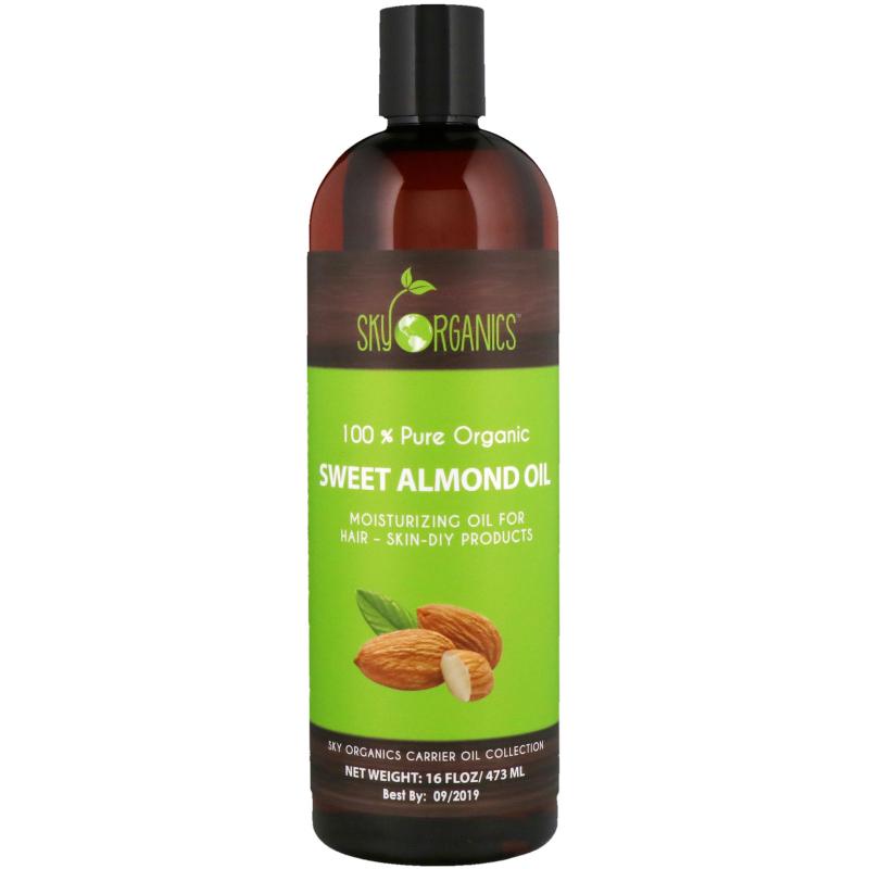 Sky Organics, 100% Pure Organic, Sweet Almond Oil, 16 fl oz (473 ml)