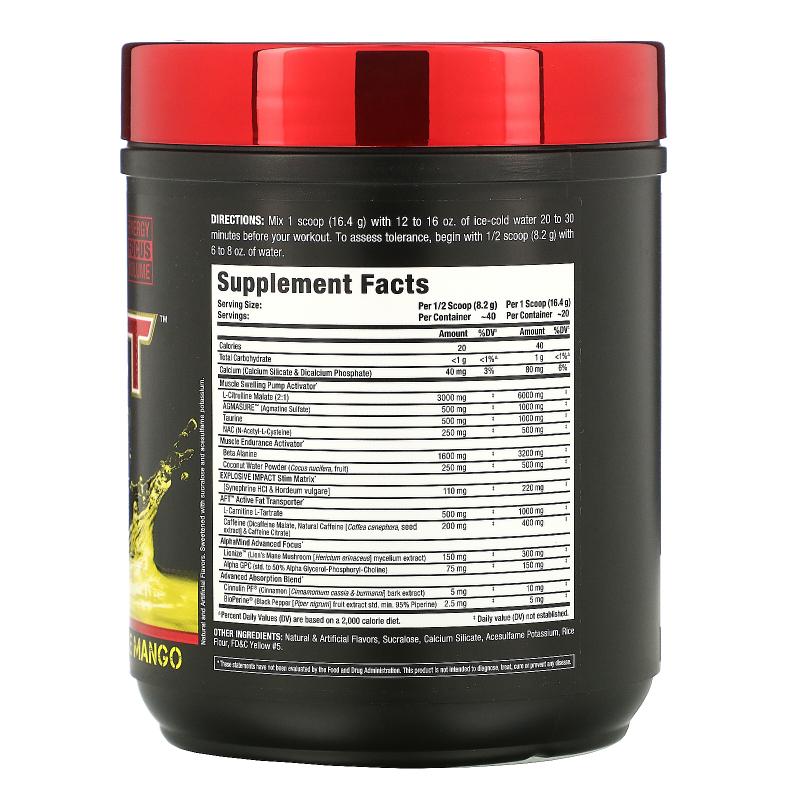 ALLMAX Nutrition, Impact Igniter Pre-Workout, Pineapple Mango, 11.6 oz (328 g)