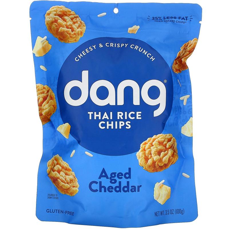 Dang Foods LLC, Sticky-Rice Chips, Aged Cheddar, 3.5 oz (100 g)