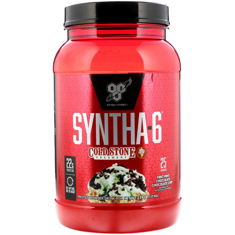 BSN, Syntha-6, Cold Stone Creamery, Mint Mint Chocolate Chocolate Chip, 2.59 lb (1.17 kg)