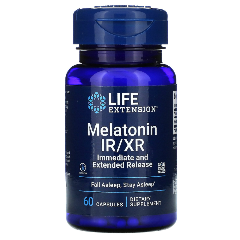 Life Extension, Melatonin IR/XR, 60 Capsules