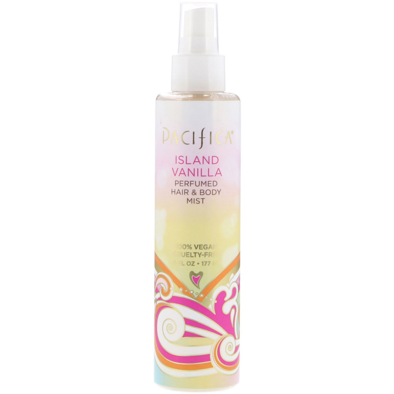 Pacifica, Island Vanilla Perfumed Hair & Body Mist, 6 fl oz (177 ml)